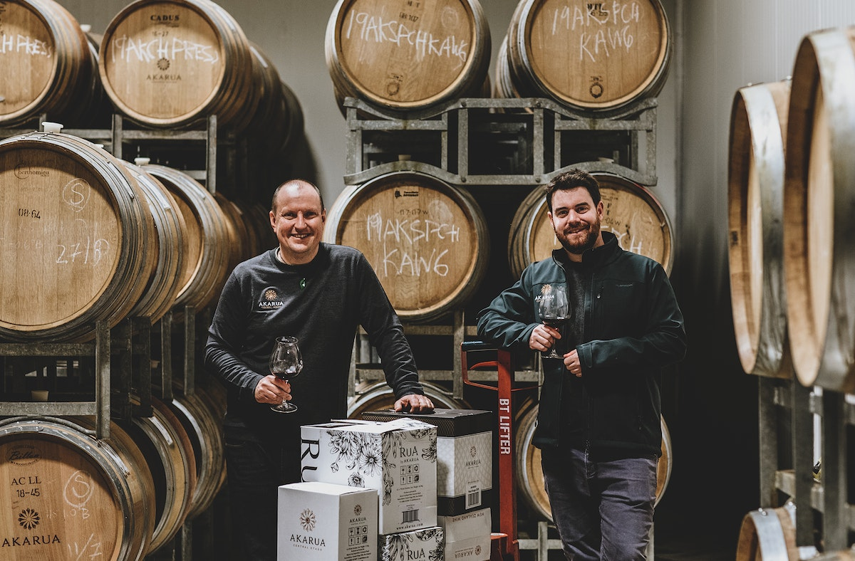 Winemaker Andrew and assistant winemaker Josh (left to right)