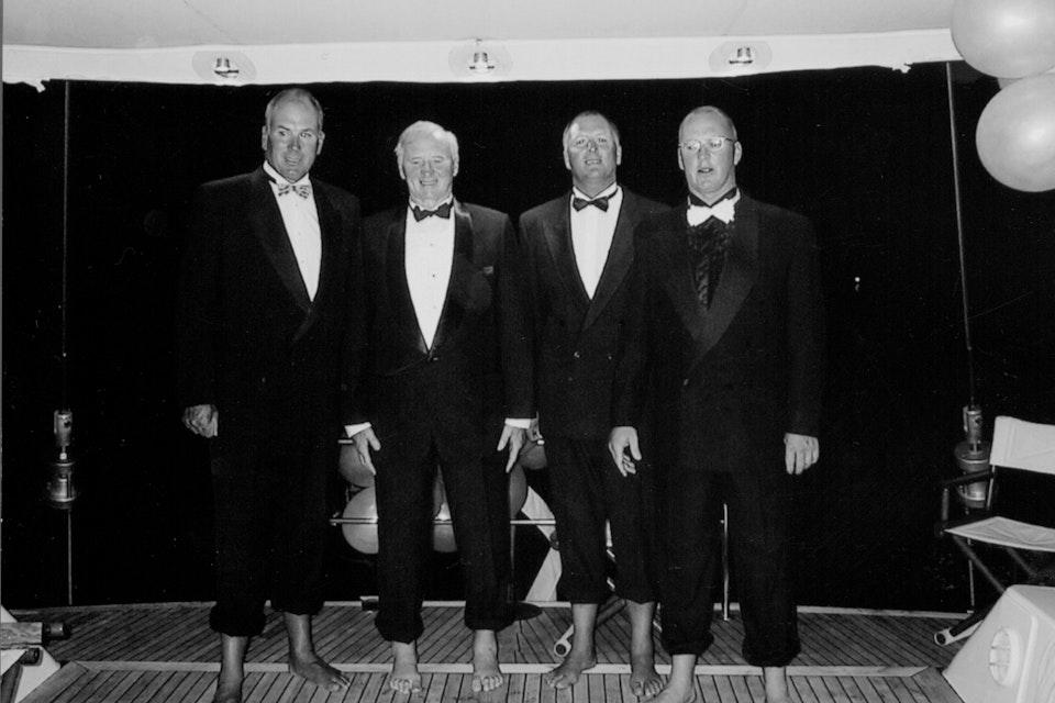 Sir Clifford Skeggs his Sons (Left to Right) Bryan, Sir Clifford, Graham, David